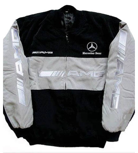 Race car jackets mercedes benz amg racing jacket light gray for Mercedes benz jacket