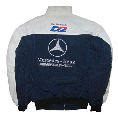Mercedes benz amg racing jacket white dark blue for Mercedes benz amg jacket