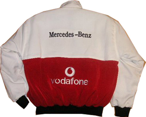 Mercedes benz vodafone racing jacket for Mercedes benz jacket