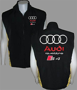 Audi Quattro S 4 Vest Black and Yellow