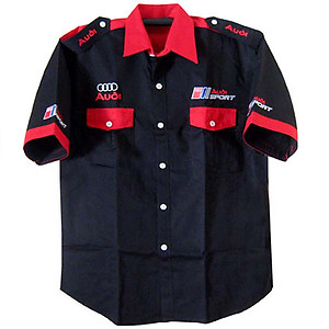 Audi Crew Shirt Black and Red
