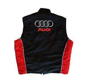 Audi Vest Black and Red
