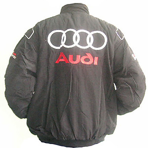 Audi Sport Racing Jacket Black and Light Gray