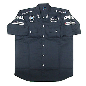 BMW Intel Dell Crew Shirt Dark Blue