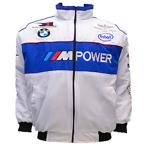 BMW Racing Jacket White, Blue