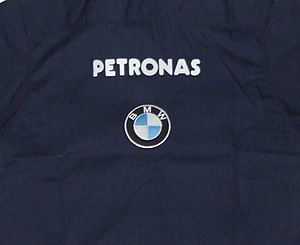 BMW Petronas Crew Shirt Dark Blue and White