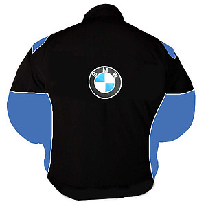 BMW RBS HP Racing Jacket Black and Royal Blue