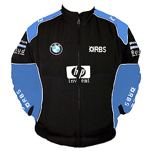 BMW RBS F1 Racing Jacket Black and Blue