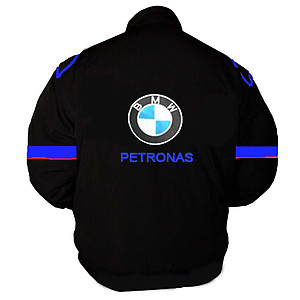 BMW Petronas Racing Jacket Black and Royal Blue