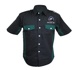 Buick Crew Shirt Black & Dark Green
