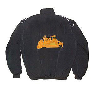 CAT Caterpillar Bulldozer Racing Jacket Black