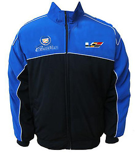 Cadillac Racing Jacket Royal Blue & Black