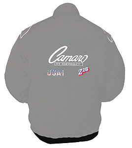Camaro Chevrolet Racing Jacket Gray