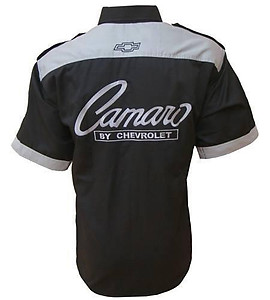 Chevrolet Chevy Camaro 350 Black and Gray Shirt