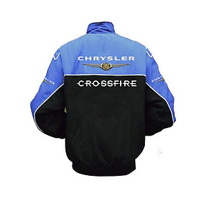 Chrysler Crossfire Racing Jacket Black and Royal Blue
