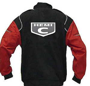 Chrysler Hemi C Logo Racing Jacket Black and Red
