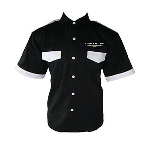 Chrysler Crew Shirt Black and White