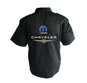 Chrysler Mopar Crew Shirt Black