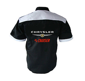 Chrysler PT Cruiser Crew Shirt Black and White