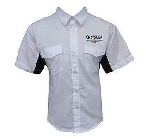 Chrysler Mopar Crew Shirt White and Black