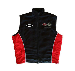 Corvette C3 Vest Black and Red