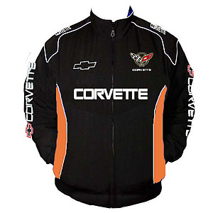 Corvette C5 Racing Jacket Black and Orange