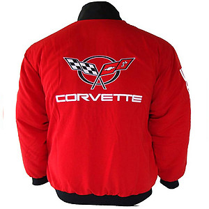 Corvette C5 Racing Jacket Red with Black