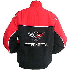 Corvette C5 Racing Jacket Red and Black