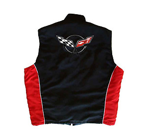 Corvette C5 Vest Black and Red