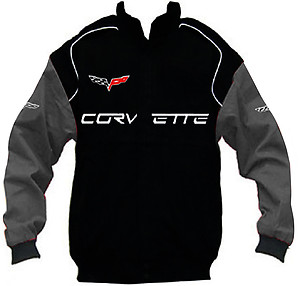 Corvette C6 Racing Jacket Black and Dark Gray