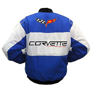 Corvette C6 Racing Jacket White and Blue