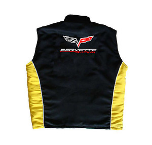 Corvette C6 Vest Black and Yellow