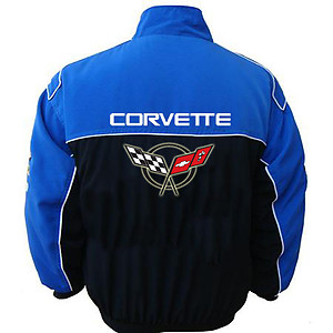 Corvette C5 Racing Jacket Royal Blue and Black