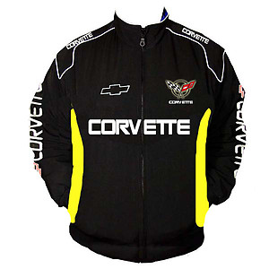 Corvette C5 Z06 Racing Jacket Black and Yellow