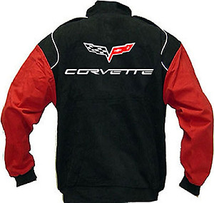Corvette C6 Racing Jacket Black and Red