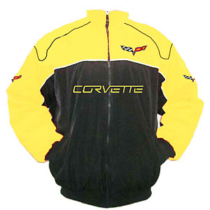 Corvette C6 Racing Jacket Black and Yellow