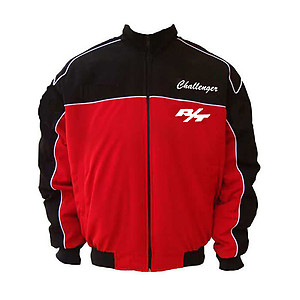Dodge Challenger SRT Racing Jacket Black and Red with White piping