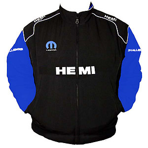 Dodge Hemi Mopar Racing Jacket Black and Royal Blue
