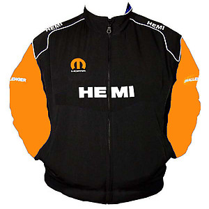 Dodge Hemi Racing Jacket Black and Orange