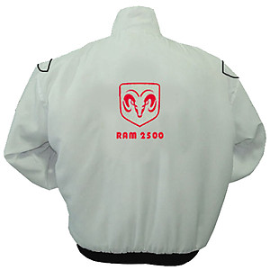 Dodge Ram 2500 Racing Jacket White
