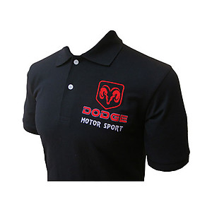 Dodge Sports Polo Shirt Black