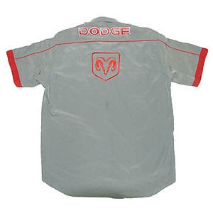 Dodge Crew Shirt Dark Gray and Red
