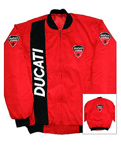 Ducati Corse Jacket Red with Black Trim