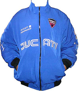 Ducati Corse Motor Cycle Jacket Royal Blue