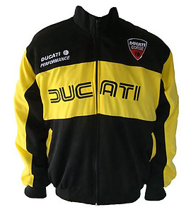 Ducati Motorcycle Jacket Coat Black & Yellow