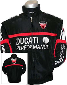 Ducati Performance Jacket Black with Red Trim