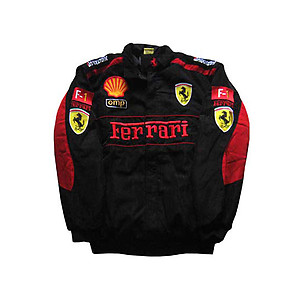 ferrari jacket black