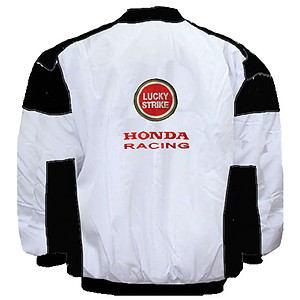 Honda BAR World Racing Jacket White and Black