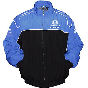 Honda Civic Racing Jacket Blue and Black