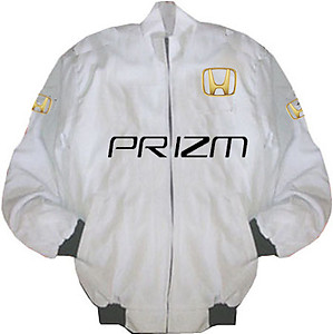 Honda Prizm Racing Jacket White